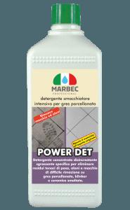 MARBEC | POWER DET 1lt Detergente smacchiatore intensivo per gres porcellanato