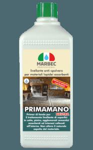 Marbec - PRIMAMANO NEUTRA 1LT | ivellante anti-spolvero per materiali lapidei assorbenti