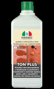 Marbec - TON PLUS 1LT | Protettivo antimacchia a forte tonalizzazione per materiali lapidei