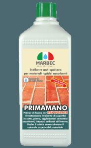 Marbec - PRIMAMANO RAVVIVANTE 1LT | Livellante anti-spolvero per materiali lapidei assorbenti