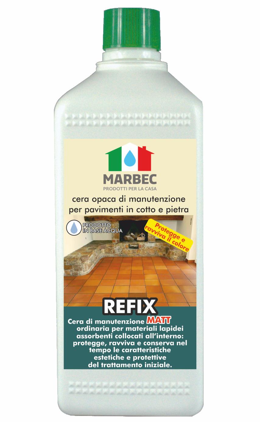 MARBEC - REFIX MATT 1LT | cera opaca di manutenzione per pavimenti in cotto e pietra