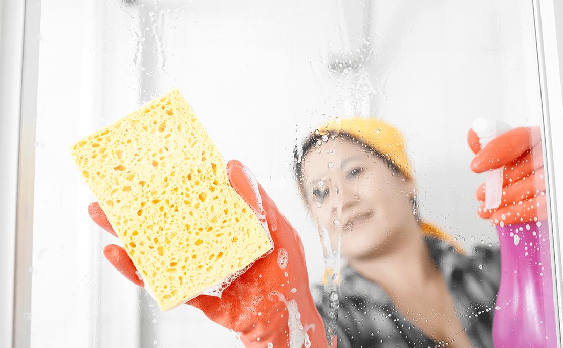 pulire-vetri-doccia nettoyer les parois de douche