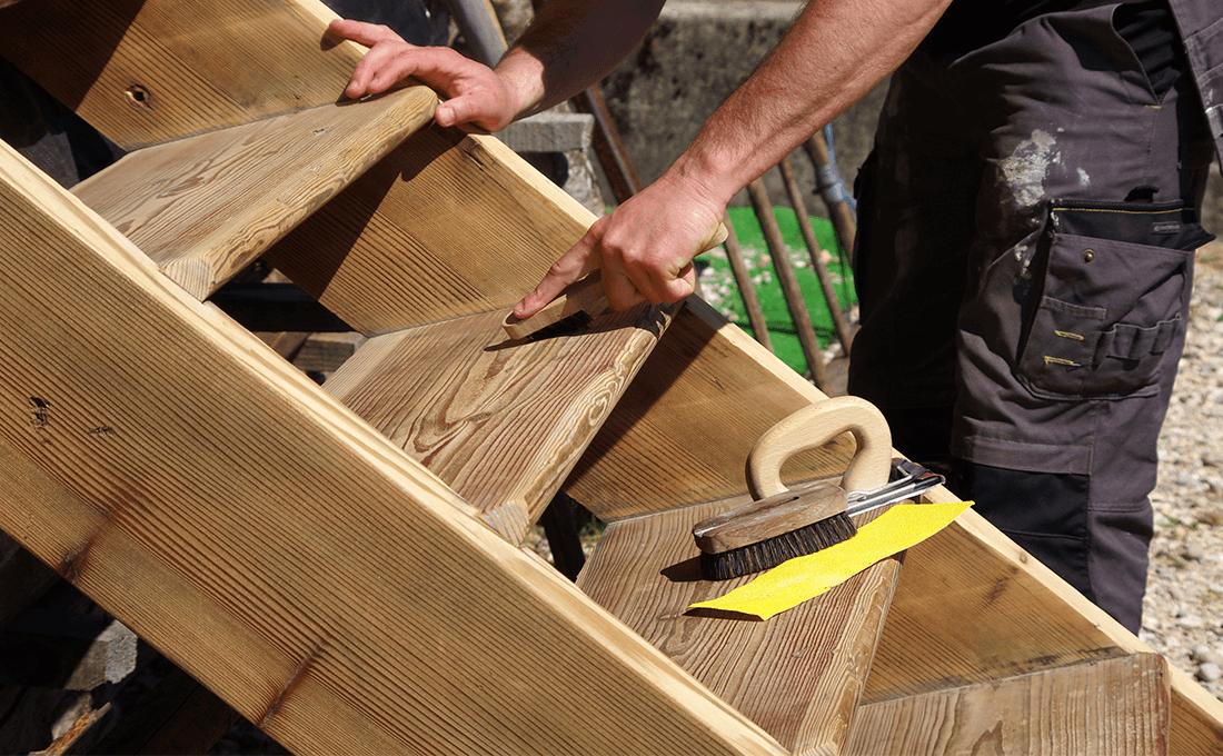 scala-fai-da-te-in legno escalera de madera de bricolaje