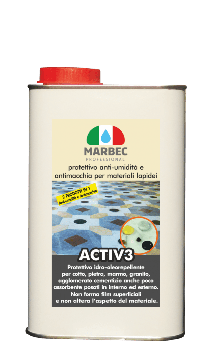 MARBEC | ACTIV3 Anti rising damp and stain resistant protective for stone materials