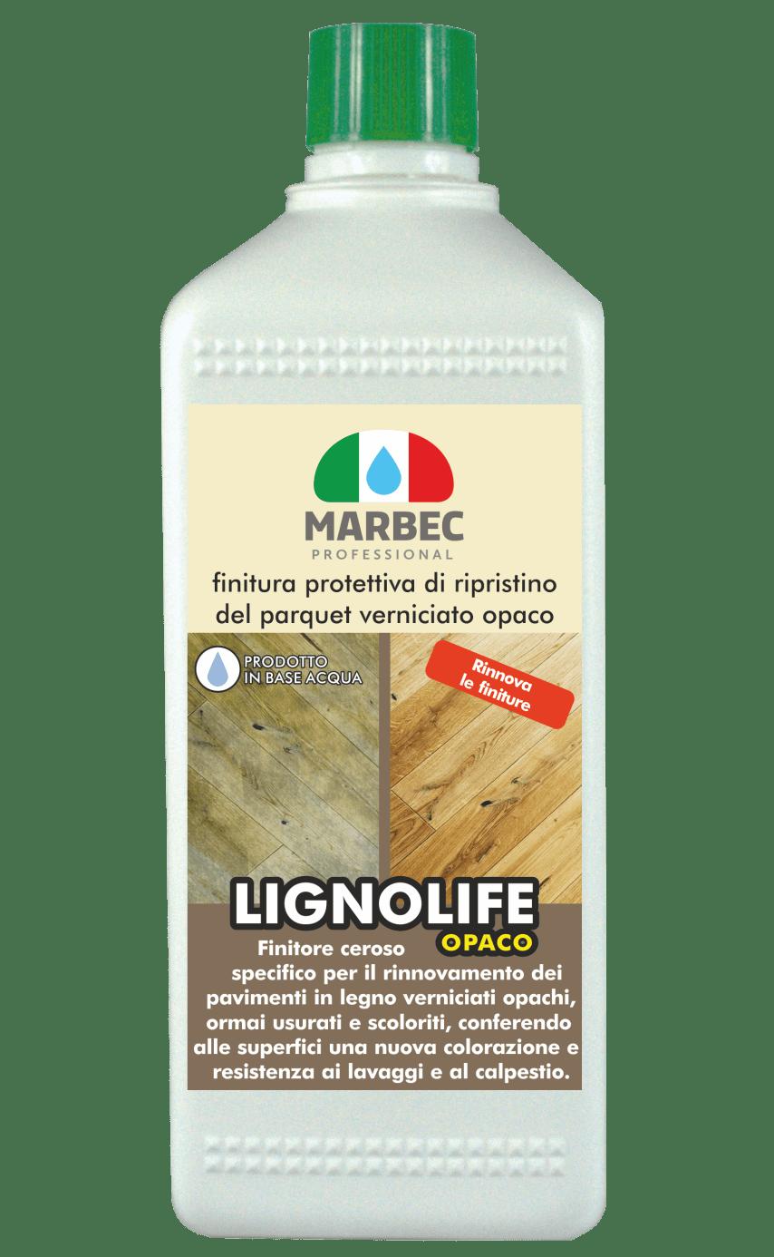 Marbec-LIGNOLIFE OPACO 1LT | Finitura protettiva di ripristino del parquet verniciato opaco