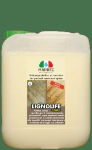 Marbec-LIGNOLIFE OPACO 5LT | Finitura protettiva di ripristino del parquet verniciato opaco