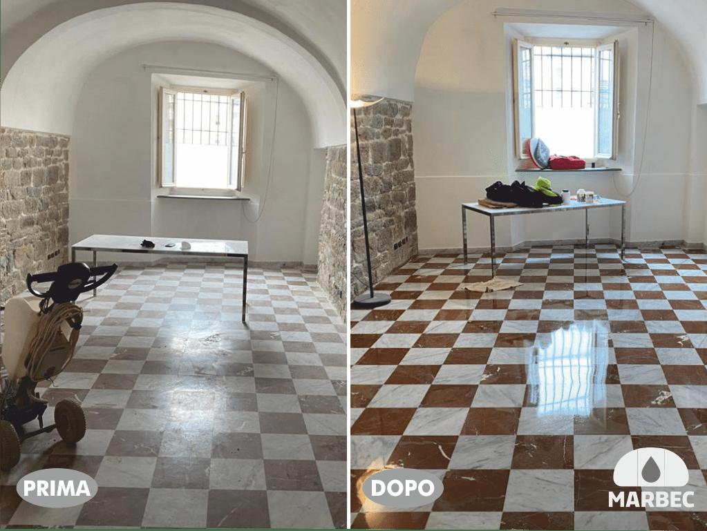 Marbec | come lucidare pavimenti in marmo