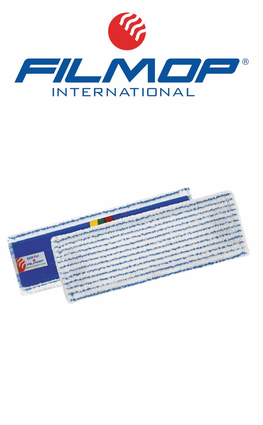 SKILL-FUR Panno bordato in microfibra a righe, con sistema a velcro, con etichetta colour code FILMOP | MARBEC