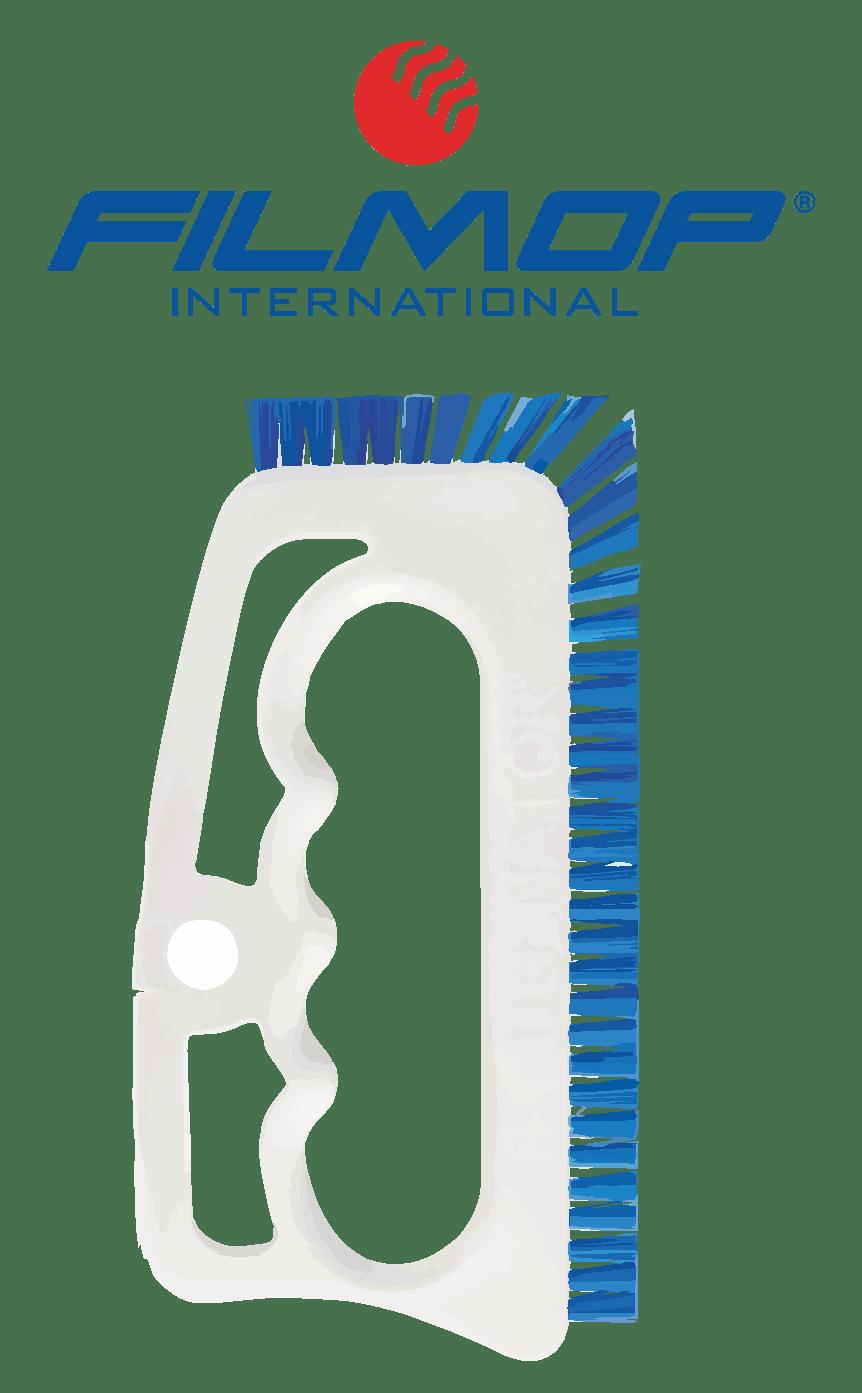 spazzola con impugnatura manuale in PBT blu per pulizia fughe FUGINATOR FILMOP | MARBEC