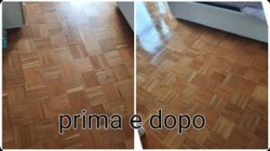 Parquet cleaning results using Marbec products