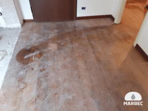 Rispristino pavimento in legno di rovere oliato