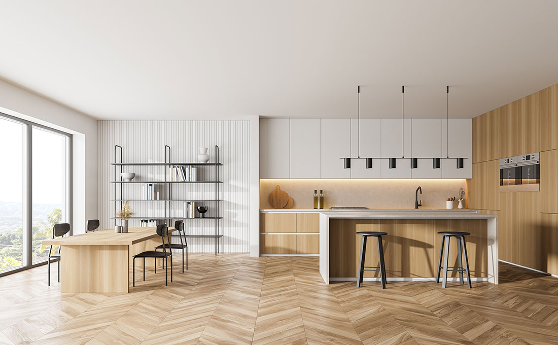 Parquet cleaning results with Marbec products