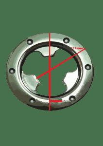 Attacco per dischi e spazzole in acciaio