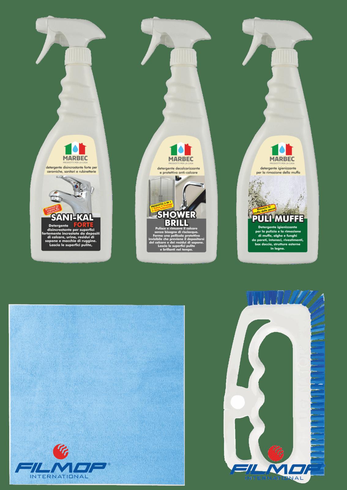 Marbec | Kit completo di prodotti specifici per il bagno