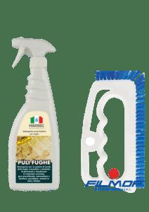 Marbec - PULI FUGHE | Kit completo per la pulizia sgrassante e disinrostante delle fughe