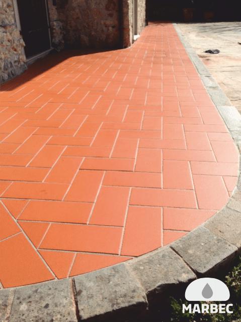 Marbec | trattamento di un pavimento cotto per esterni