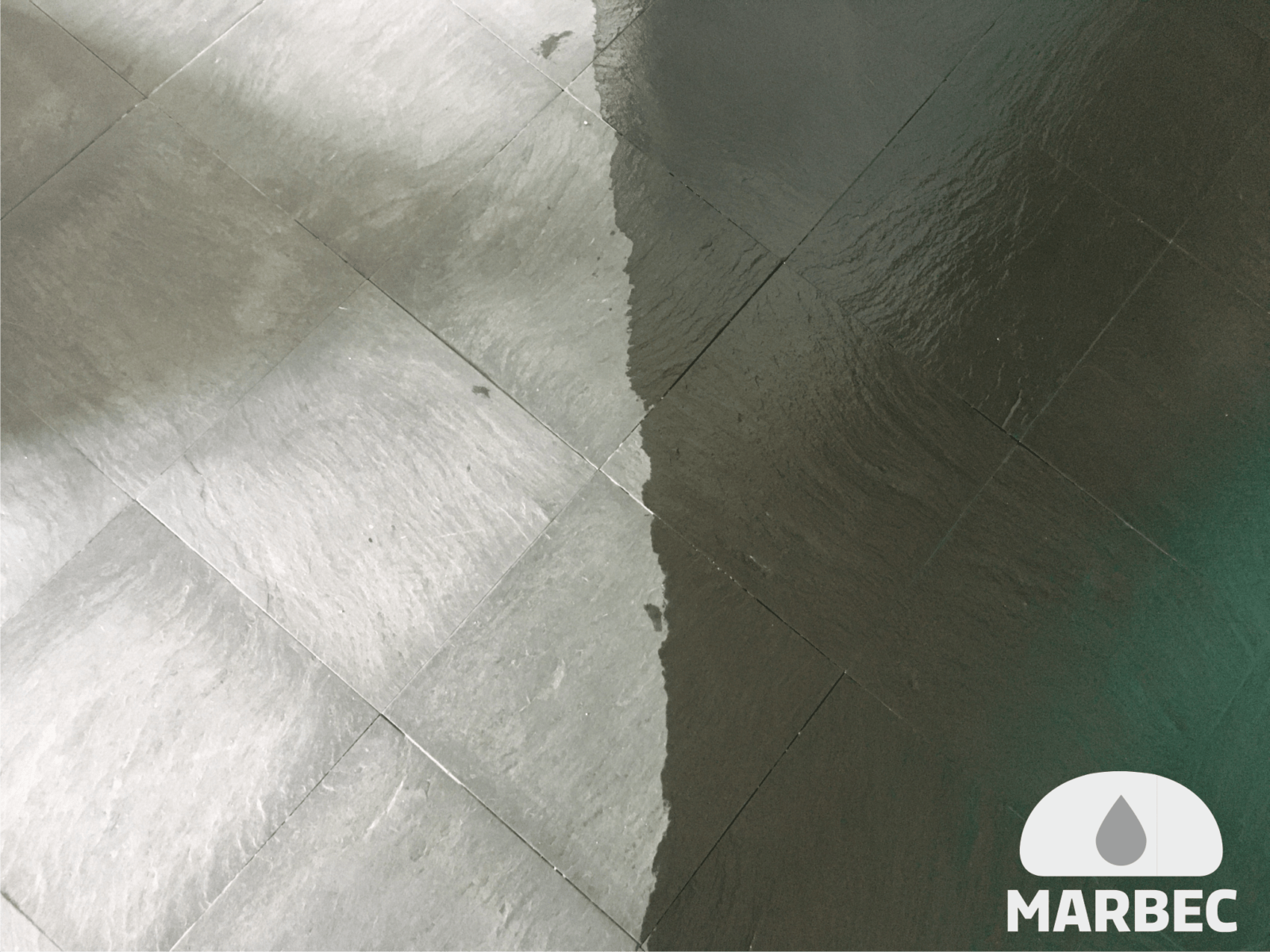 Marbec | sol rdesia avant et après traitement